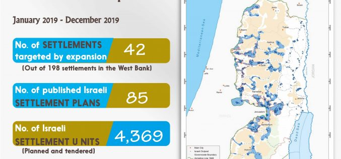 Info Graph: Israeli Settlement Activities during 2019