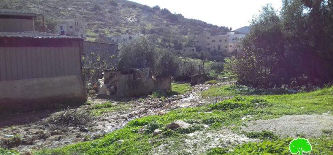 """مستعمرة """"ميراف"""" الإسرائيلية تضخ مياهها العادمة باتجاه قرية جلبون / محافظة جنين"""
