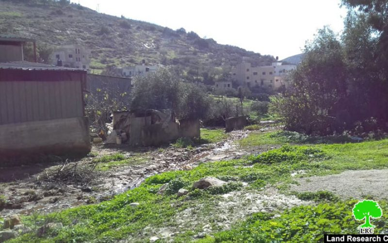 """Settlers of """"Meirav"""" open their waste water in Jalboun village lands/ Jenin governorate"""