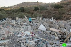 The Israeli Occupation demolishes a residential building in Shuqba / North Ramallah