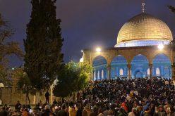 """The Israeli Occupation suppresses Protestors in """"The great Fajer Campaign"""" – Al-Aqsa mosque"""