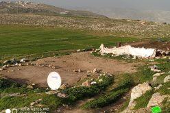 هدم ومصادرة خيام سكنية وزراعية في خربة جبعيت / محافظة رام الله