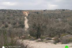 الاحتلال الإسرائيلي يمنع تأهيل طريق زراعي في بلدة كفر الديك / محافظة سلفيت