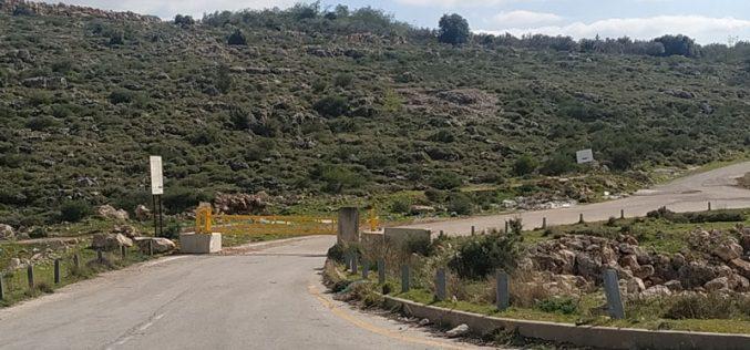 إغلاق البوابة الحديدية على المدخل الشمالي لقرية شقبا / محافظة رام الله