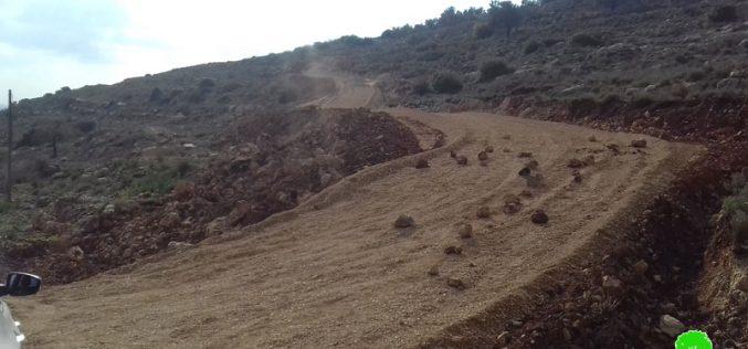 The Israeli Occupation prohibit rehabilitating a road in Al-Mughayyir / Ramallah governorate
