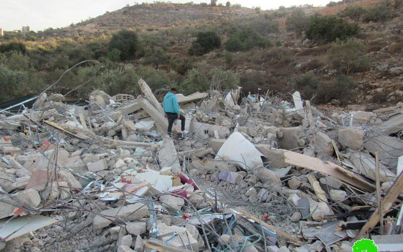 الاحتلال الإسرائيلي يهدم بناية مكونة من شقتين سكنيتين في قرية شقبا شمال رام الله