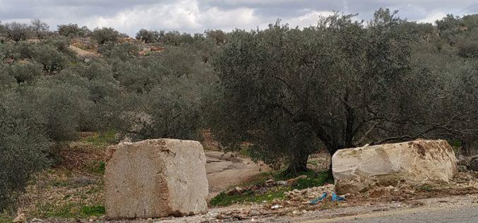 The Israeli Occupation imposes closure on Ras Karkar village /Ramallah governorate