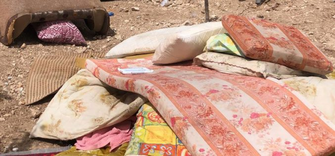 Demolition of three agricultural residences in At-Tayba – east Tarqumiya / Hebron governorate