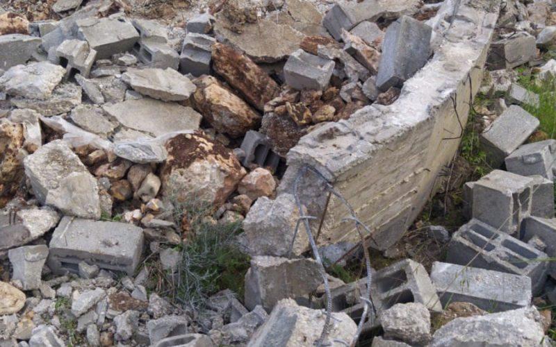 الانتهاكات الاسرائيلية في ظل كورنا:هدم ثلاثة مساكن قيد الإنشاء في قرية رمانة/ محافظة جنين