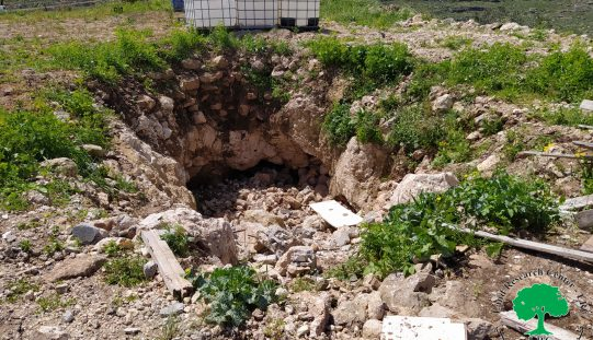 هدم غرفة زراعية وبئر لجمع المياه في بلدة الزاوية / محافظة سلفيت