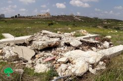 Israeli violations in the time of Corona: Demolition of a retaining wall and a facility in Jubara village / Tulkarim governorate