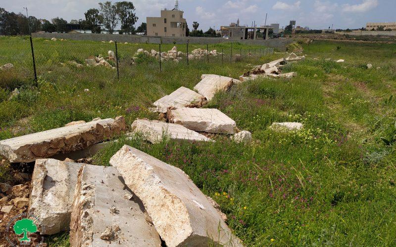الانتهاكات الاسرائيلية في ظل كورونا:هدم جدران استنادية وغرفة زراعية في قرية جبارة/ محافظة طولكرم