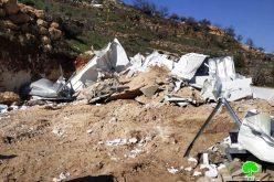 الاحتلال يهدم مسكن عائلة الرجبي للمرة الثانية جنوب مدينة الخليل
