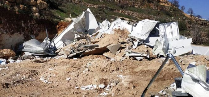 The Israeli Occupation demolishes Ar-Rajabi family home for the second time / South Hebron City