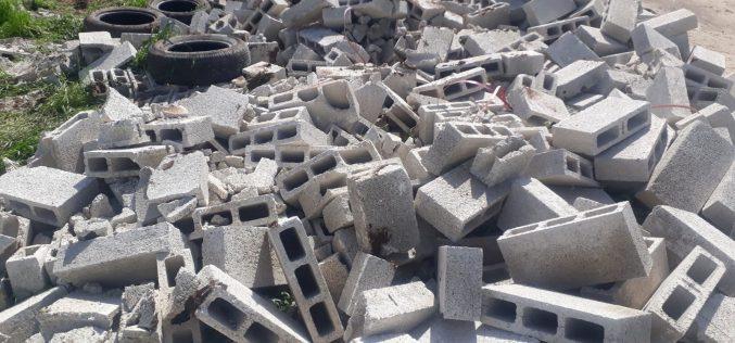 الانتهاكات الاسرائيلية في ظل كورونا:هدم مسكن ومصادرة خيام وأدوات بناء في خربة ابزيق / محافظة طوباس