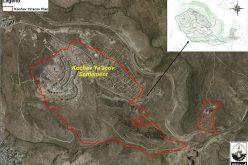An Israeli settlement plan to seize 1591 dunums of Palestinian land north of Jerusalem