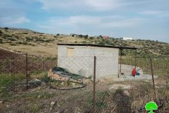 A demolition order on a water harvest cistern and agricultural room in Al-Aqaba village
