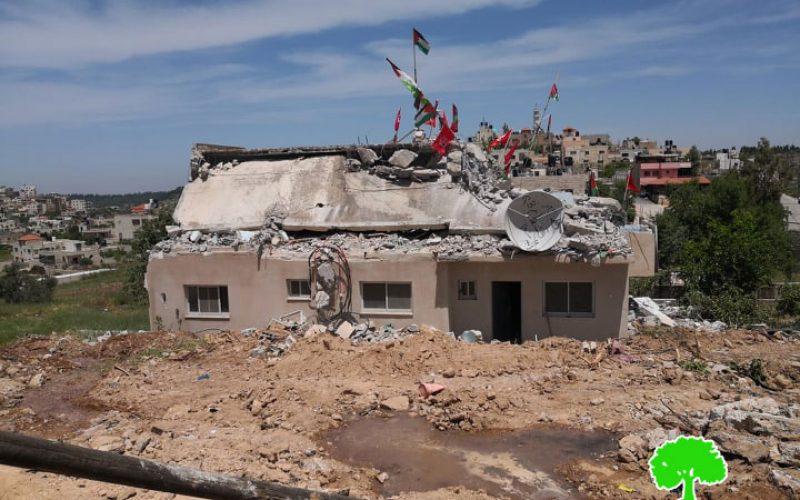 The Israeli Occupation raze house of prisoner Qassam Al-Barghuthi in Kubar / Ramallah governorate