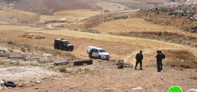 الاحتلال يهدد بهدم خيام في قرى مسافر يطا جنوب الخليل