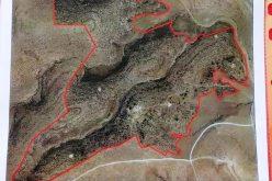 An eviction notice on a Pastoral reserve in Umm Al-Khair village / south Hebron