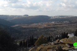 """الشروع بتوسعة البؤرة الاستعمارية """" كيرم عيلم"""" على أراضي قرية المزرعة القبلية / محافظة رام الله"""