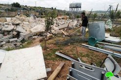 Demolition of three agricultural residences in Tarqumiya / Hebron governorate