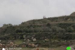 Israeli sets up watch points in Jit village / Qalqilya governorate