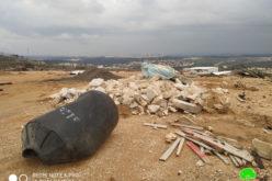 هدم منشأة تجارية في بلدة نعلين / محافظة رام الله