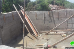 Halt of work notice target water harvesting cistern in Deir Istiya / Salfit governorate