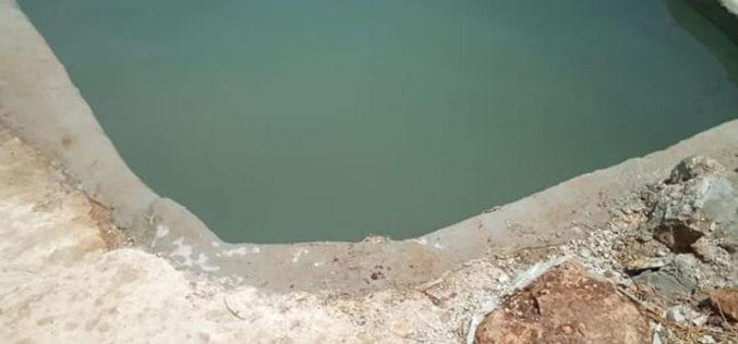 """مستعمرة """" ياكير"""" يعمدون على تحويل نبعة مياه إلى بركة للسباحة تخدم المستعمرين"""