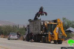 هدم ومصادرة أكشاك لبيع الخضار في الاغوار الشمالية / محافظة طوباس
