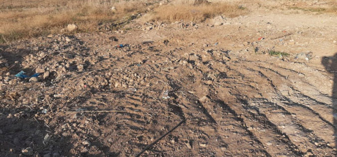 Closing random water openings in the village of Bardala, in the northern Jordan Valley