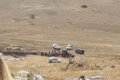 إغلاق فتحة مياه في خربة الحديدية / محافظة طوباس