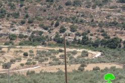 الشروع بشق طريق استعماري جديد شرق بلدة كفر ثلث بمحافظة قلقيلية