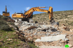 Ravaging an Agricultural Road in Masafer Yatta South Hebron