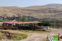 إخطار إزالة بركس صناعي في قرية الجفتلك / محافظة أريحا
