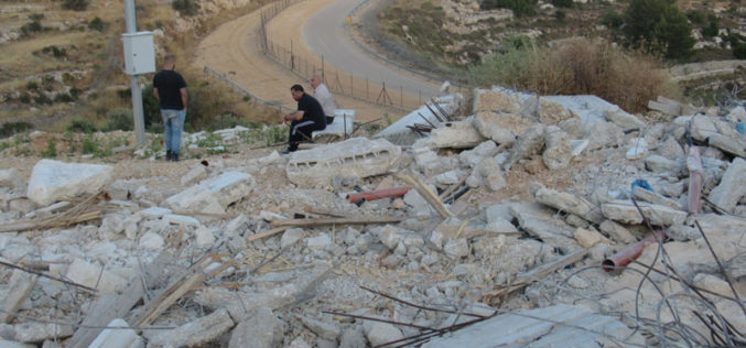 Under Construction Building demolished in Beituniya on the pretext of building without licenses / Ramallah governorate