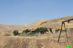 A notice targets a residential room in Khirbet Humsa At-Tehta / The northern Jordan Valley