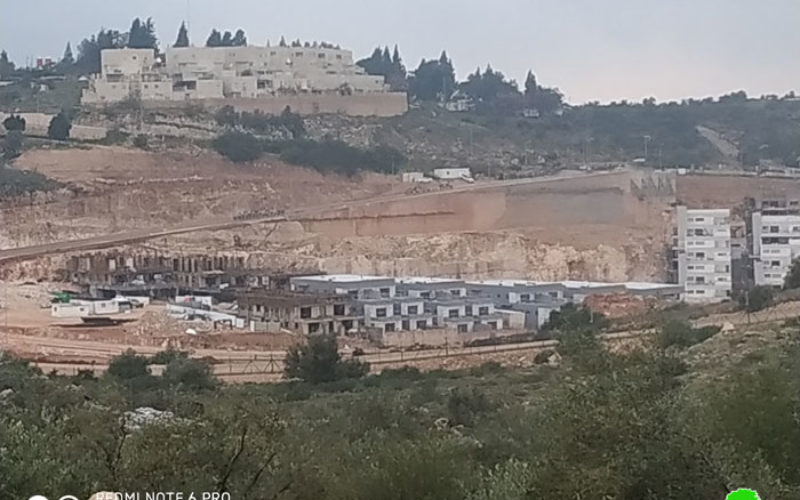 Elkana settlement expands more on Salfit lands