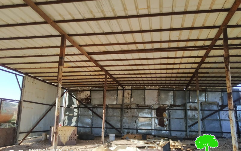 The Occupation targets an agricultural shack in Atouf / Tubas governorate