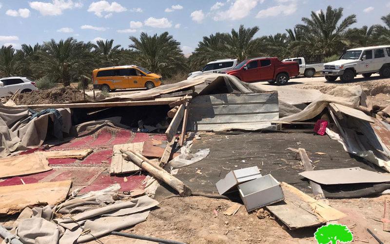 """هدم منشآت سكنية وزراعية في"""" دير أبو حجلة"""" بمحافظة أريحا"""