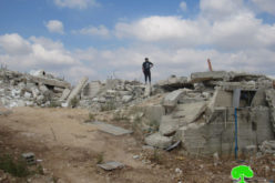 Demolishing a wedding hall in Jubara /  Tulkarm Governorate