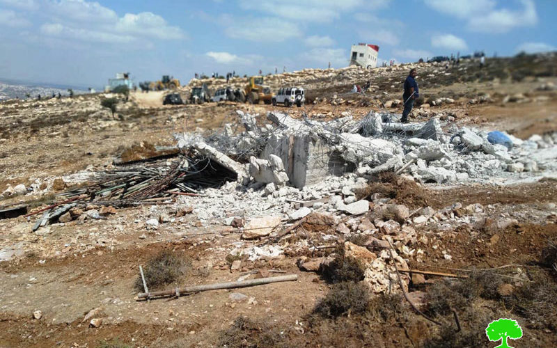 The Israeli Occupation Authorities demolish structures in Khallet Taha west Dura / Hebron governorate