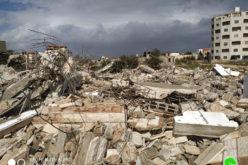 بذريعة الأمن … هدم مسكن عائلة الأسير أحمد قمبع للمرة الثانية في مدينة جنين