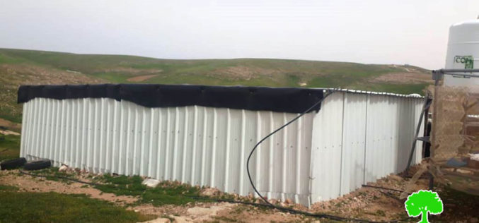 Halt of Work notice for an agricultural facility in At-Tabban village east Yatta / Hebron governorate
