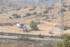 الشروع بتجريف أراض خلف جدار الضم والتوسع العنصري في بلدة الزاوية بمحافظة سلفيت