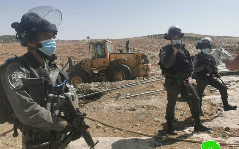 الاحتلال يهدم 6 مساكن في شعب البطم والركيز بمسافر يطا جنوب الخليل