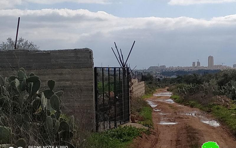 الاحتلال يستهدف أرض زراعية في بلدة نعلين / محافظة رام الله