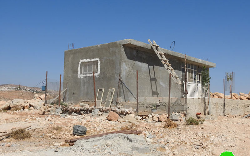 Halt of Work notice for 5 houses in Al-Buwaib village east Yatta / Hebron governorate