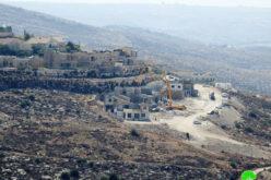 """مستعمرة"""" نيجهوت"""" والبؤر المحطية بها تشهد توسعاً جديداً على أراضي بلدة دورا/ الخليل"""
